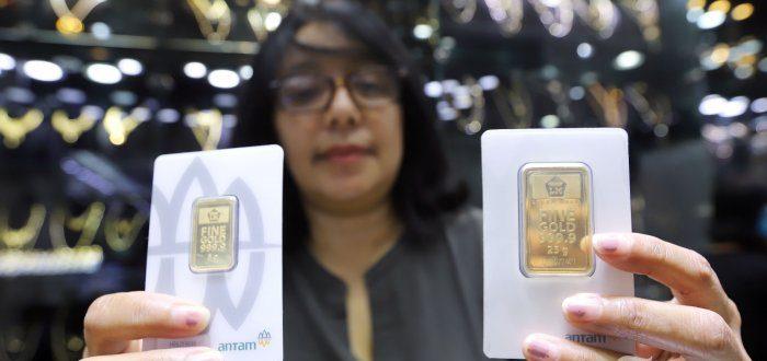 Jelang Akhir Pekan, Harga Emas Antam Stagnan di Posisi Rp 973 Ribu per Gram