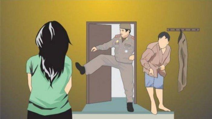 Kepergok Berselingkuh, Istri Polisi Diarak Suami Sendiri, Ada Alat Kontrasepsi Tercecer di Ranjang