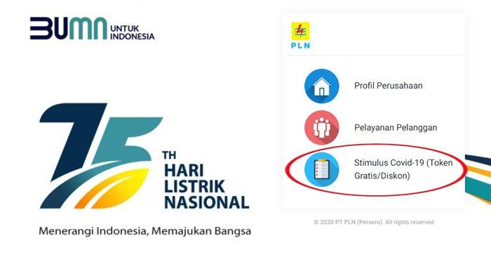 Login stimulus.pln.co.id dan Dapatkan Token Listrik Gratis PLN Bulan Februari 2021
